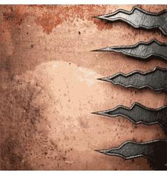 Old metal background vector image