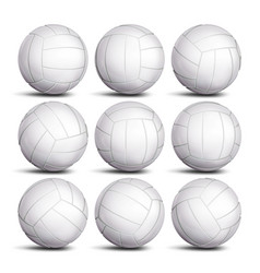 realistic volleyball ball set classic vector image vector image