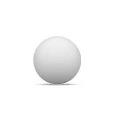 Realistic white paper ball shape with shadow vector