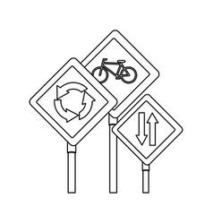 road traffic signals set vector image vector image
