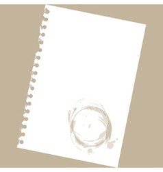 Stained notepad paper vector image vector image