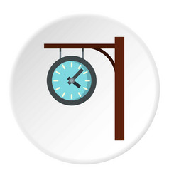 Station clock icon circle vector