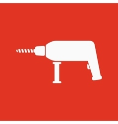 The drill icon perforator symbol flat vector