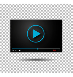 video player play button modern player vector image vector image