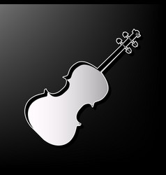 Violin sign gray 3d printed vector