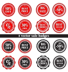 sale badges vector image