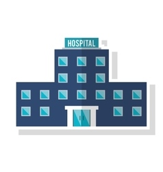 Isolated hospital building design vector