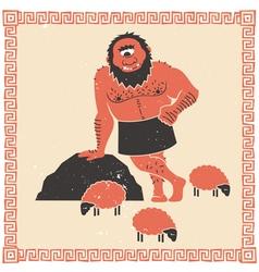 Cyclops Polyphemus vector image