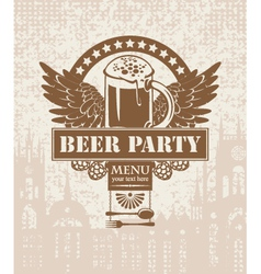 banner with a beer vector image