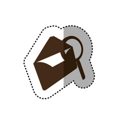 Brown letter with magnifying glass icon vector