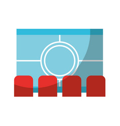 Cinema scene isolated icon vector