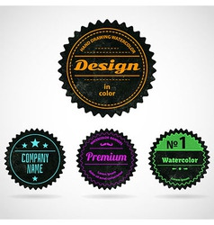 Color badges vector