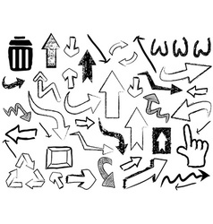 Doodle arrow sign background vector
