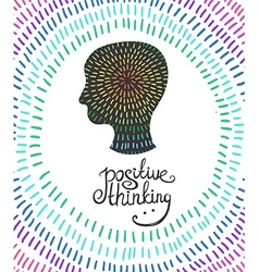 Human head icon creative concept positive thinking vector