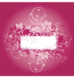 Floral graphic frame vector