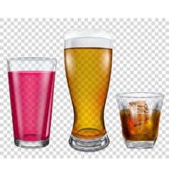 Glasses with drinks vector