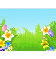 Wildflowers vector