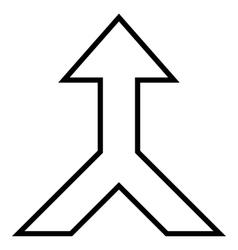 Combine arrow up stroke icon vector