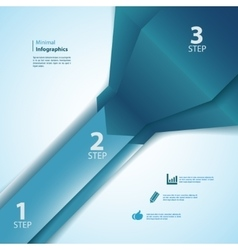 One two three info-graphics ribbons vector