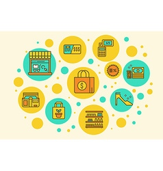 Retail store vector