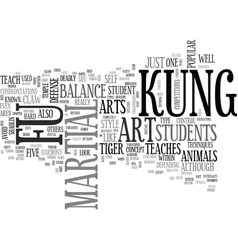 A look at kung fu text word cloud concept vector