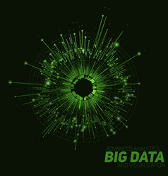 Abstract green round big data vector