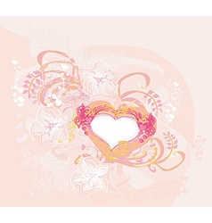 abstract romantic background with heart vector image