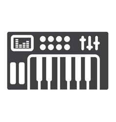 analog synthesizer glyph icon music instrument vector image vector image