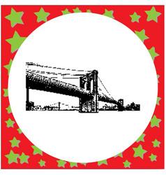 black 8-bit brooklyn bridge vector image vector image