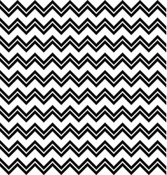 Black and white seamless zig zag line pattern vector