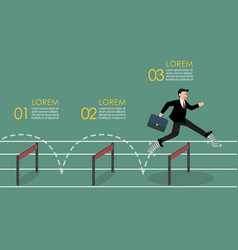 Businessman with elastic spring shoes jumping vector