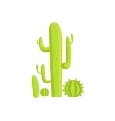 Cacti mexican culture symbol vector
