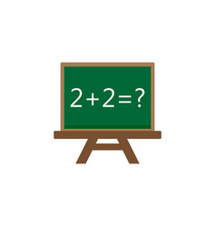 Chalkboard flat icon education and school element vector