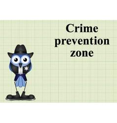Crime prevention zone usa vector