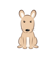 cute cartoon rodent vector image