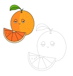 Educational game connect dots to draw orange vector
