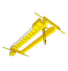 factory overhead crane vector image