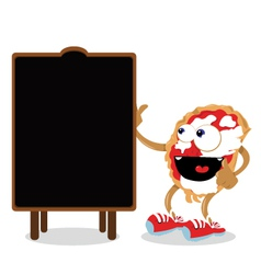 Funny Pizza Pointing a Blackboard vector image vector image