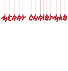 Hanging text merry christmas vector