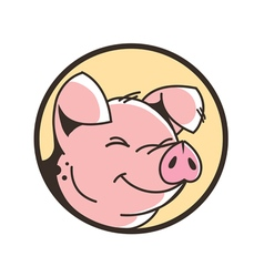 Happy pig vector image