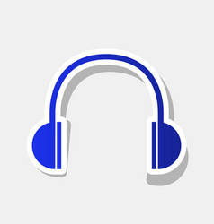 Headphones sign new year vector