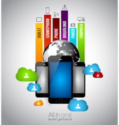 Infographic with Cloud Computing concept vector image
