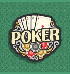 Logo poker vector