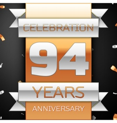 Ninety four years anniversary celebration golden vector image vector image
