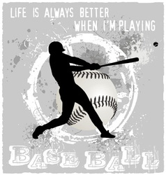 playing baseball vector image vector image