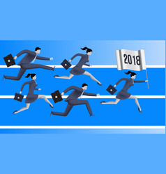 running to year 2018 business concept vector image vector image