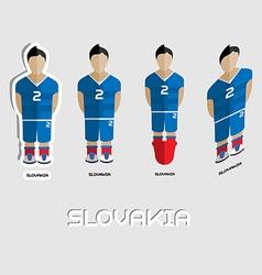Slovakia soccer team sportswear template vector