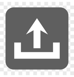 Upload rounded square button vector