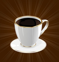 Vintage background with coffee cup vector image
