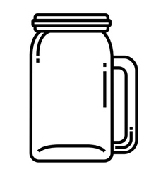 Container drink glass isolated icon vector